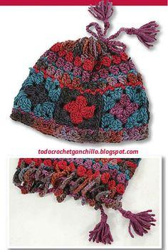 Gorro y cuello sin fin con grannys crochet   paso a paso  d64641b26f1