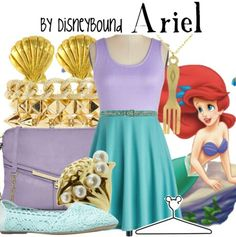 Dress and flats and crossbody purse and belt and necklace