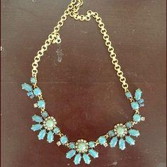 J. Crew Necklace Unique blue color, perfect for wedding season! J. Crew Jewelry Necklaces