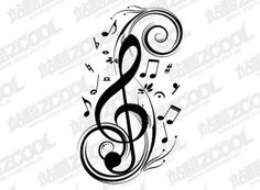 Would make a very nice tattoo Music Wrist Tattoos, Body Art Tattoos, Tatoos, Music Doodle, Music Tattoo Designs, Music Painting, Silhouette Images, Guitar Art, Great Tattoos