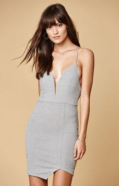 ed57368a49 Pacsun Selfie Leslie Ribbed Knit Asymmetrical Hem Dress Found on my new  favorite app Dote Shopping