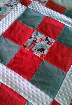 Flannel Rag Quilt Coral and Turquoise by TheRedThread1 on Etsy, $48.00