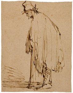 Rembrandt Harmensz. van Rijn (1606-1669), A Beggar, Facing Left.