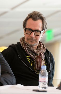 Gary Oldman  at the RoboCop press conference today (January 23, 2014)