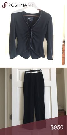 861dcb7a09ea Shop Women s size 36 Other at a discounted price at Poshmark. Description   Black Armani pant suit size V of the top hits just below bust.