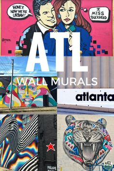 Must-See Wall Murals in Atlanta Atlanta Travel, Chicago Travel, Best Graffiti, Graffiti Murals, Georgia Street, Usa Travel Guide, Travel Guides, Atlanta Art, Instagram Wall