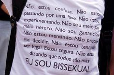 23 de setembro  Dia Internacional da Visibilidade Bissexual  Respeite todos os dias. Sou Bi, Lgbt History, Peace And Love, My Love, Power To The People, Equal Rights, Girls In Love, Whisper, Pride