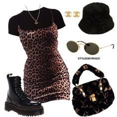 I've been dying to do leopard print 🐆 (more outfits at Fashion Killa, Look Fashion, 90s Fashion, Fashion Outfits, Womens Fashion, Mode Outfits, Retro Outfits, Stylish Outfits, Vintage Outfits