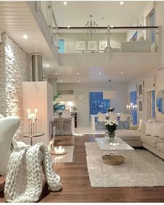 Here are some doable living room decor and interior design tips that will make your home cozy and comfortable for family and friends. Dream Home Design, Modern House Design, Contemporary House Plans, Living Room Goals, Living Room Decor, Dining Room, Decorating Your Home, Interior Decorating, Decorating Games