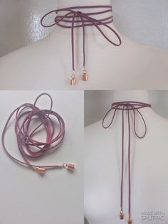 Enrolle la cuerda gargantilla collar gamuza por FashioneditStudio