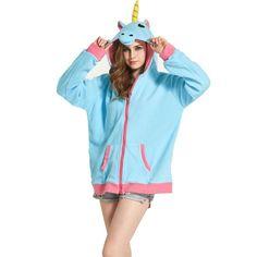 Discount This Month Fashion Hoodies Cartoon Unicorn Sweatshirts Fleece Women harajuku Winter Hooded Jacket bts Clothes Winter Coat moletom feminino Pijama Unicorn, Unicorn Hoodie, Cute Hoodie, Long Hoodie, Hoodie Jacket, Jacket Men, Fleece Hoodie, Harajuku, Cosplay Costume
