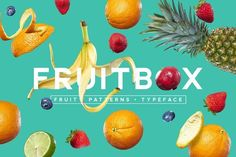 FruitBox - Font. Patterns. Fruit by Ian Barnard on @creativemarket