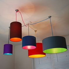pick and mix drum lampshade choice of colours by quirk | notonthehighstreet.com