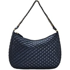 FASH Quilted Chain Strap Cross Body Shoulder Handbag,Black,One Size