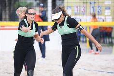 Italy's Viktoria Orsi Toth and Marta Menagatti celebrate