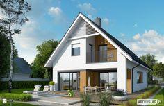 Projekt domu Riko G1 - widok od strony ogrodu - zdjęcie od Pracownia Projektowa ARCHIPELAG - Domy - Styl Nowoczesny - Pracownia Projektowa ARCHIPELAG