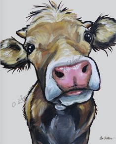 Cow art print from original canvas cow painting. Farmhouse cow art, Cow on canvas art, Fine . Cow art print from original canvas cow painting. Farmhouse cow art, Cow on canvas art, Fine art or canvas cow print Animal Paintings, Animal Drawings, Art Drawings, Cow Paintings On Canvas, Paintings Of Cows, Canvas Prints, Canvas Artwork, Giraffe Painting, Animal Sketches