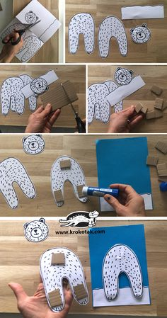 Winter Crafts For Kids Winter Art Projects, Winter Crafts For Kids, Winter Kids, Art For Kids, Classroom Art Projects, Art Classroom, Bear Crafts, Animal Crafts, Theme Noel