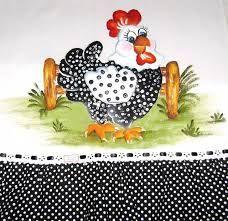 Resultado de imagen para pintura em tecido galinhas