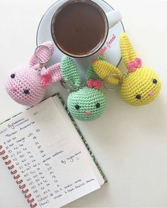 # ・ ・ ・ # 🐰 # Yesterday # keychains # sharing # for # for # lot # bought # actually # much when you wanted # – crochet pattern Crochet Baby Toys, Crochet Bunny, Crochet Animals, Crochet Dolls, Free Crochet, Knit Crochet, Small Crochet Gifts, Mini Amigurumi, Kawaii Crochet