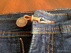 Waist Extender - Easy DIY to make Pre-Pregnancy Pants Fit Longer