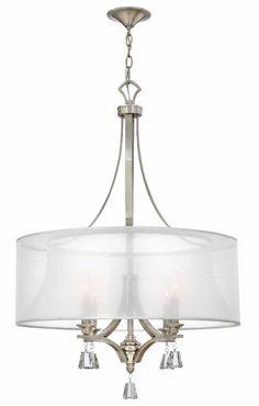 Elegant. Available in brushed nickel or French bronze. Hinkley Lighting - Mime FR45604BNI