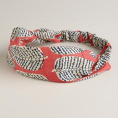 One of my favorite discoveries at WorldMarket.com: Coral and Blue Leaf Soft Headband