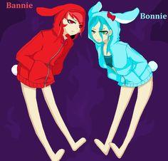 Bonnie de Five night et mon perso :p