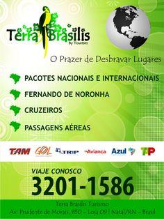 Banner para a Terra Brasilis Turismo  Usado na fachada da empresa.