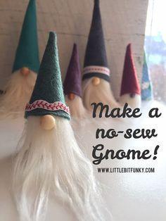 Little Bit Funky: How to Make a {no-sew} Norwegian Gnome! {Norwegian Nisse}