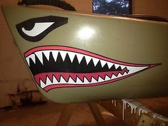 Kayak / Canoe Shark Mouth Color Decal 7 COLORS TO CHOOSE FROM