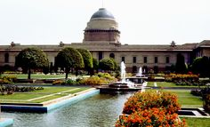 Mughal Gardens - located in the premises of the Rashtrapati Bhavan, which is designed by Sir Edwin Lutyens span an area of about 320 acres it comprise of the Rectangular Garden, Long Garden and the Circular Garden.