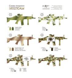 Airsoft hub is a social network that connects people with a passion for airsoft. Talk about the latest airsoft guns, tactical gear or simply share with others on this network How To Paint Camo, Camo Paint, Camo Stencil, Camo Guns, Camouflage Patterns, Military Guns, Airsoft Guns, Guns And Ammo, Tactical Gear