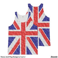 #Union #Jack #Flag Design All-Over Print #Tank #Top