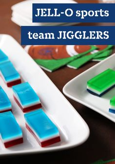 JELL-O Sports Team JIGGLERS – No matter who you're rooting for, these JELL-O JIGGLERS are sure to win big at your game day party table. Plus, kids are sure to enjoy their bright colors.
