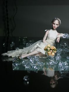 Luxury Bride - 2011 Cami Basic  Platinum, OOAK luxury wedding dress made from original Valentino lace