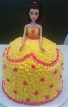 Barbie Cake tip to create dress pattern and change colors - think Cinderella dress