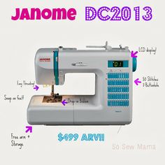 Janome DC2013 Sewing Machine Review