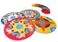 Jenny Duff Walpole Champneys colourful mats and coasters