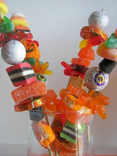 Halloween Candy Skewers!