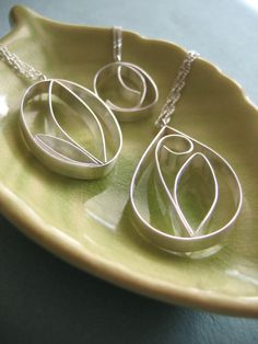 Sterling Silver Bloom Pendants