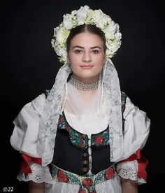 Turiec region: Slovak bride in folk costume from Turiec in Central Slovakia near town of Martin Folklore, Travel Clothes Women, Clothes For Women, Folk Clothing, Folk Costume, Ethnic Fashion, Fashion History, Traditional Dresses, Beautiful People