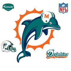 Fathead Miami Dolphins Logo Wall Decal by Fathead. $74.66. Officially licensed. Constructed from tough, tear and fade-resistant vinyl. Logos are approximately 43 inches wide and 40 inches tall. Low-tack adhesive lets you move and remove graphics from walls without damaging surfaces. Features high-resolution 3D graphics. Fathead NFL Miami Dolphins Logo Wall Decal
