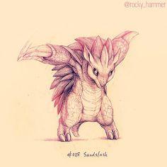 Sandslash! (#art #sandslash #pokemon #ground #drawing #gaming #videogames #artist #rockyhammer)