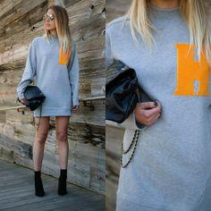 H&M Sweater, Topshop Bag, Hue Socks, Aldo Pumps