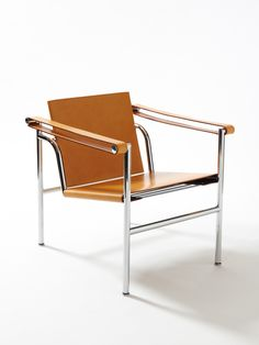 Basculant LC1 chair. Designed by Le Corbusier for Cassina in 1928