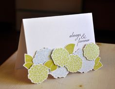Happy Hydrangea Wedding Card by Maile Belles for Papertrey Ink (May 2012)