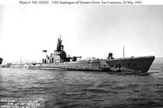 """""""USS SEADRAGON"""" (SS-194) was a (310.6') Sargo Class Submarine – Commissioned: 23 October 1939 (Honors: 11 Battle Stars for WW ll Service) Crew: 5 Officers, 54 Enlisted – Armament: 8 x 21 Inch (533mm) Torpedo Tubes (4 Forward, 4 Aft) (24 Torpedo Reloads) 1 x 3 Inch (76mm) Deck Gun and 4 Machine Guns - 29 October 1946 and Scrapped: 2 July 1948 (2)"""