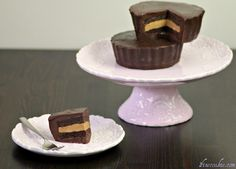 Peanut Butter Cup Cake. Like a giant Reese's peanut butter cup with cake inside.   Buttermilk chocolate cake, pb filling, and Hershey's chocolate ganache.    http://wp.me/p1jcdp-rc    #ganache #peanut #butter #cup #cake #valentine's #mother's #day #birthday #father's