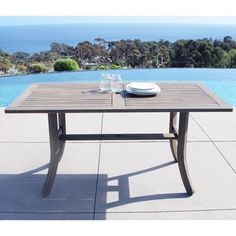 Renaissance Outdoor Hand-scraped Hardwood Rectangular Table | Overstock.com Shopping - The Best Deals on Dining Tables  $218.00